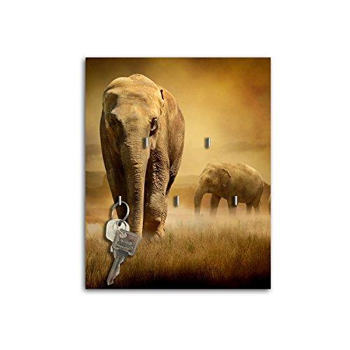 dalinda Llavero de Pared con diseño Ribete Elefant Llave Board Llaves Ganchos...