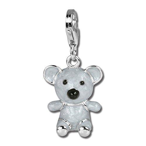 Encantos SilberDream - encanto del oso de koala en plata de ley 925, Amanda-A - especialmente para pulsera del encanto, collar y pendientes - para mujeres - FC608