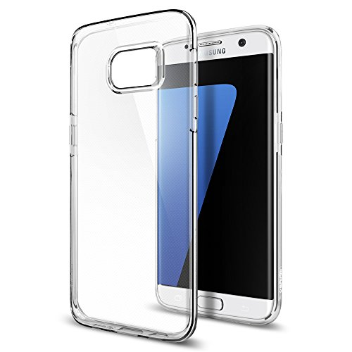 Samsung Galaxy S7 Edge Hülle, Spigen® [Liquid Crystal] Ultra Dünn [Crystal Clear] Transparent Soft-Flex Handyhülle / Bumper-Style Premium-TPU Silikon / Perfekte Passform / Durchsichtige Schutzhülle für Samsung Galaxy S7 Edge Case, Samsung Galaxy S7 Edge Cover, Samsung S7 Edge Case, Samsung S7 Edge Cover - Crystal Clear (556CS20032)