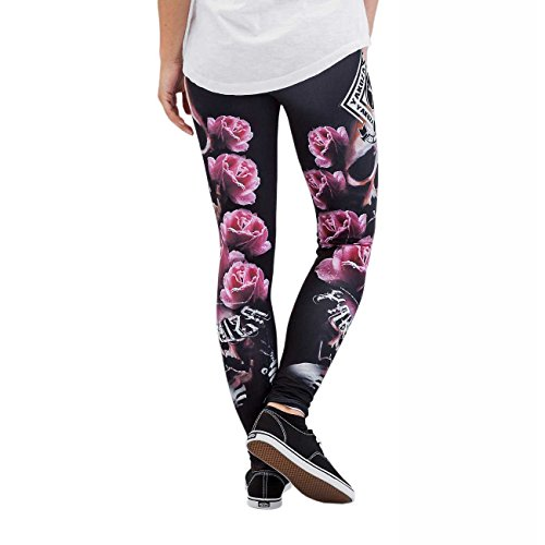 Yakuza Original Damen Roses Leggings Schwarz