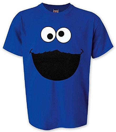 1, Rue sésame t-shirt forme de cookie monster face taille l