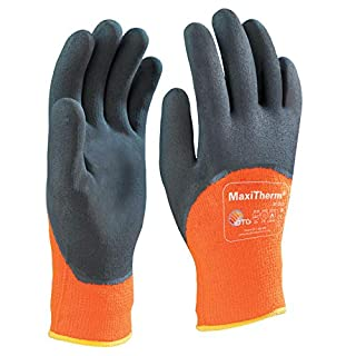 ATG MaxiTherm 30-202 Handschuh Thermal Grip 3/4 beschichtet 1.2.4.1, Größe 9, orange