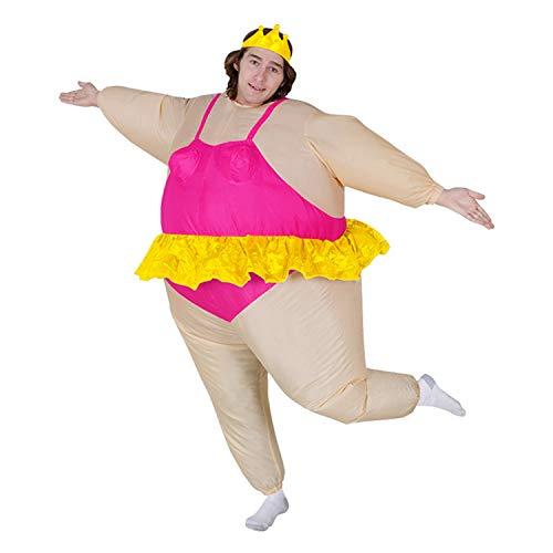 DMMASH Aufblasbare Ballett-Kostüm Halloween-Party Lustig Fetten Mann