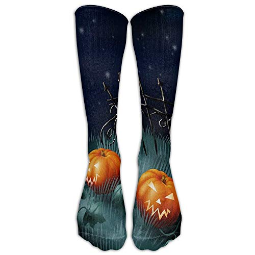 saibing Men's Premium Quality Halloween Pumpkin Fitness Novelty Crew Athletic Socks Knee High Sock