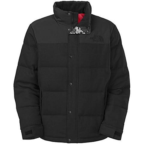 The North Face Men's Tweed Nuptse Heights Down Jacket Puffer Wool (Black Malenga)