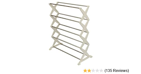 93e2b6732 Unique Gadget 5 Tier Foldable Stainless Steel Shoe Rack 16 Pair  Amazon.in   Home   Kitchen