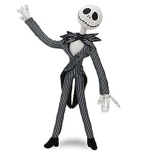 "Disney, Tim Burton's The Nightmare Before Christmas Jack Skellington Poseable Plush Soft Doll Toy -- 9"""