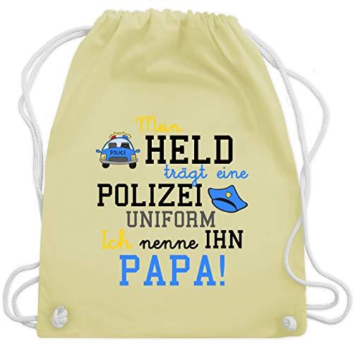 Sprüche Kind - Mein Held trägt eine Polizei Uniform - Unisize - Pastell Gelb - WM110 - Turnbeutel & Gym ()