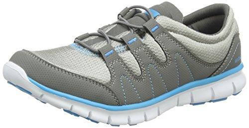 Gola Solar, Scarpe Sportive Indoor Donna, Grigio (Grey/Blue), 40 EU