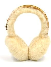 CoolChange Kuschelige Damen Ohrwärmer aus Lammfell und Rauleder