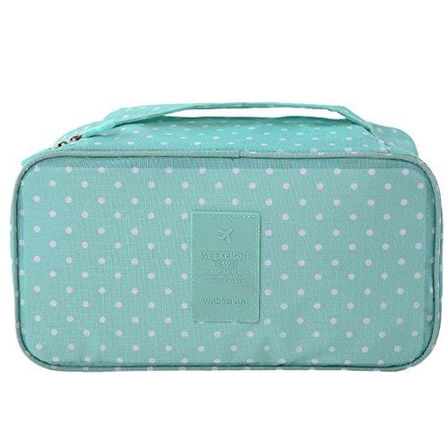 LQZ Women Lady Waterproof Travel Organizer Storage Bag For Bra Underwear Lingerie