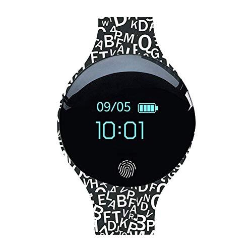 P12cheng Fitness-Smartwatch, Fitness-Aktivitätstracker,Bluetooth smart Watch wasserdichte Uhr Kamera Sport schrittzähler Nachricht Erinnerung White-Black Black And White Kamera