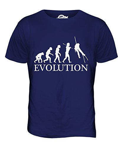 CandyMix Canyoning Evolution Des Menschen Herren T Shirt Navy Blau