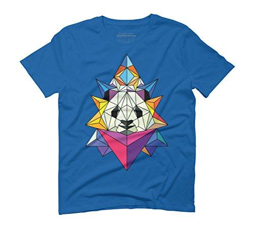 Polygonal panda Men's Graphic T-Shirt - Design By Humans Royal Blue