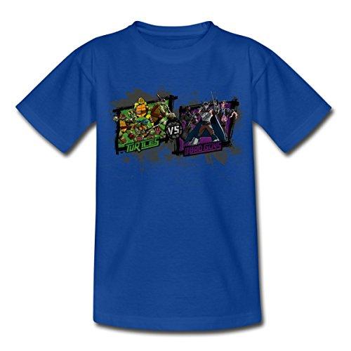 Spreadshirt TMNT Turtles vs The Bad Guys Shredder Teenager T-Shirt, 152/164 (12-14 Jahre), Royalblau (Ninja Schildkröte-mädchen-shirt)