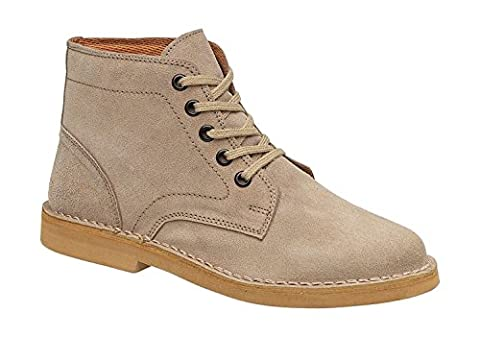 Amblers Mens Desert Lace Suede Fabric Lined Leather Boot Brown