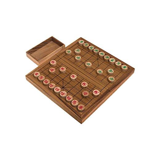 Xiangqi, das chinesische Schachspiel, Schachvariante, Set mit originalen Holzscheiben, Holz