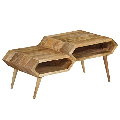vidaXL Bois de Manguier Massif Table Basse Salon Meuble TV Table d'Appoint