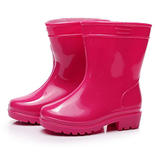 Huhua Wellies for Boys Girls Kids, Child Waterproof Rubber Baby Rain Shoes Boots