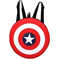 AUXTER Red Polyester Avenger Captain America Shield school Bag casual Backpack Daypack
