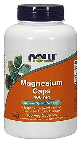 Now Foods, Magnesium Kapseln, 400mg, 180 Veg. Kapseln