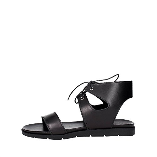 Pregunta IAL25635-CV 001 Sandale Femme Noir Noir - Chaussures Sandale Femme