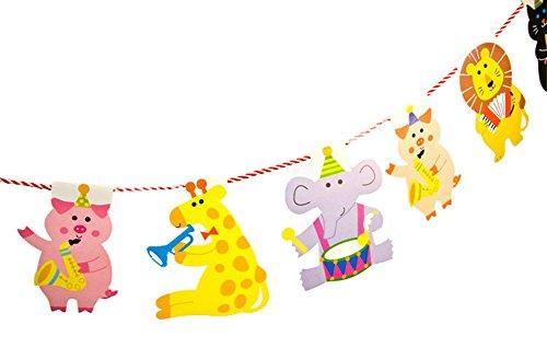 CAOLATOR Banners Animal Bunting banners partido para DIY niños decoración Bienvenida al Bebé Colgando de Cumpleaños Decoración 2M