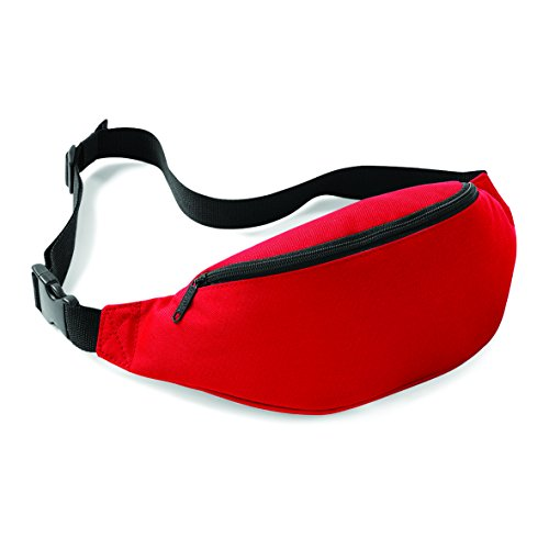 Bauchtasche / Gürtelltasche / Hüfttasche mit rückseitige Tasche in orange classicred