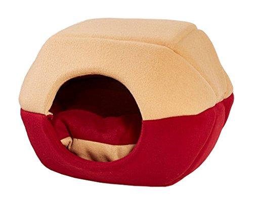 Premewish - Cucha con suave cama para perros y mascotas, ambiente acogedor...