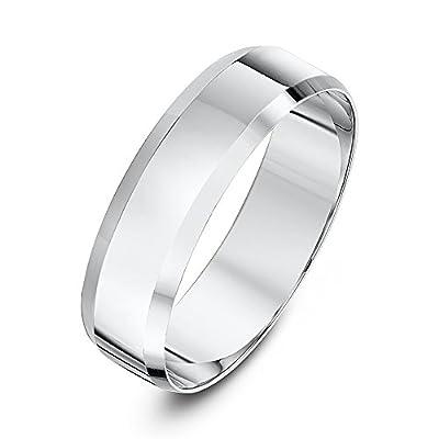 Theia Unisex 9 ct Yellow Gold Heavy Flat Shape Bevelled Edge Polished Wedding Ring