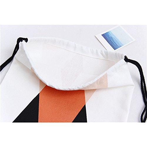 Rieovo Turnbeutel Hipster Segeltuch Rucksack Gym Sack Turnbeutel Beutel Sportbeutel | 35 coole Designs | Baumwoll Beutel mit hohem Tragekomfort Mountain-orange