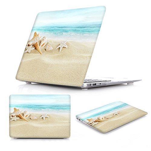 Neue Mode gummierte klare Laptop-Hülle + Tastatur Haut + Staubstecker für MacBook Pro 15 Retina (Modell: A1398) - Ocean Beach Starfish