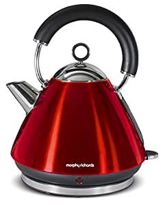 morphy richards 43857 retro wasserkocher accents 1 5 liter 2200 watt rot. Black Bedroom Furniture Sets. Home Design Ideas