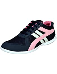 ZoShoes Women's Outdoor Multi Sport Training Shoes Black Women Sports Lace Up Shoe, Trendy Women Pink Lace Up...