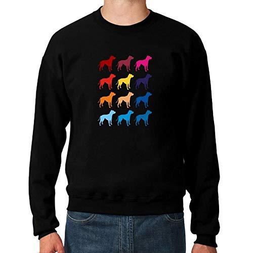 Idakoos Colorful American Pit Bull Terrier Sweatshirt M Bull Terrier Sweatshirt
