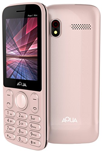 Aqua Pearl Max - 2.8 Inch Display Dual SIM Basic Keypad Mobile Phone with 3600 mAh Battery and Power bank Feature -Rose Gold