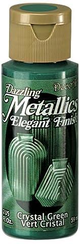 DecoArt Americana Acrylic Metallic Paint, Crystal