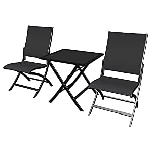 set tavolo 2 sedie pieghevoli arredamento esterno