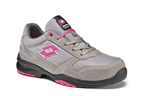 Scarpe antinfortunistiche Lotto Works FLEX EVO 500 S1P Grigio Rosa - Memory Foam 771205 (38)