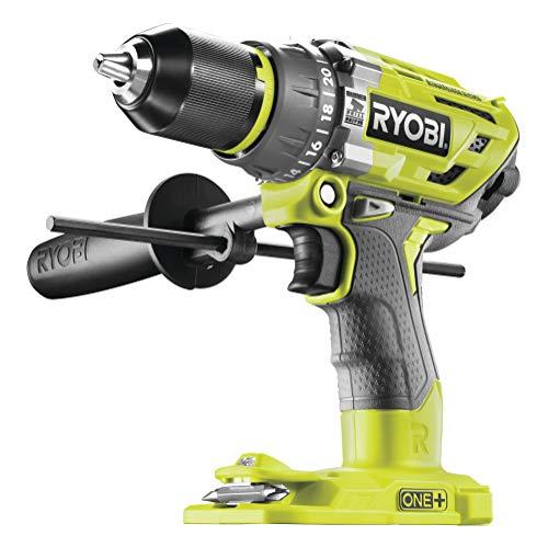 Ryobi 5133003941 Schlagbohrschrauber (18 V, Schlagbohrfunktion, ohne Akku, Schnellspannbohrfutter, LED-Beleuchtung) R18PD7-0