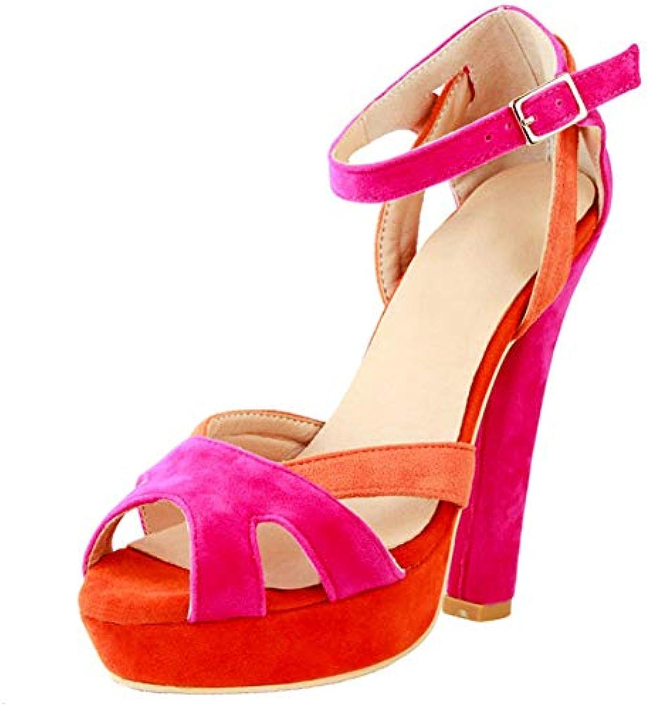 9ed77833f3c776 Kolnoo Femmes Femmes Femmes s à Talons épais en Daim D'Orsay  Chaussures à la ModeB07GRMTG5PParent   De Biens De Toutes Sortes  Sont ...