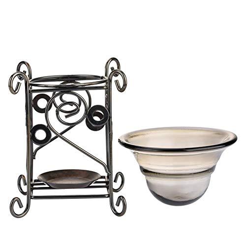 Salmue Kerzenhalter und ätherisches Öl Diffusor, Hirschform Eisen Aroma Furna Brenner Ofen Kerze Aromatherapie ätherisches Öl Lampe(B) -