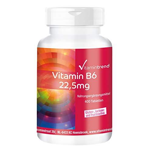 Vitamin B6 22,5mg - Vegan - Confezione grande- 400 Compresse