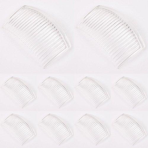Peignes Bodhi2000 en plastique - 10 peignes de 23 dents - Peigne-barrette pour la coiffure