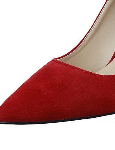 WSS 2016 Chaussures Femme-Extérieure / Bureau & Travail / Soirée & Evénement-Noir / Rose / Violet / Rouge / Gris / Amande-Talon Aiguille-Talons / black-us6 / eu36 / uk4 / cn36