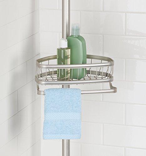 mdesign asta telescopica doccia con cestelli portaoggetti doccia senza forare il muro. Black Bedroom Furniture Sets. Home Design Ideas