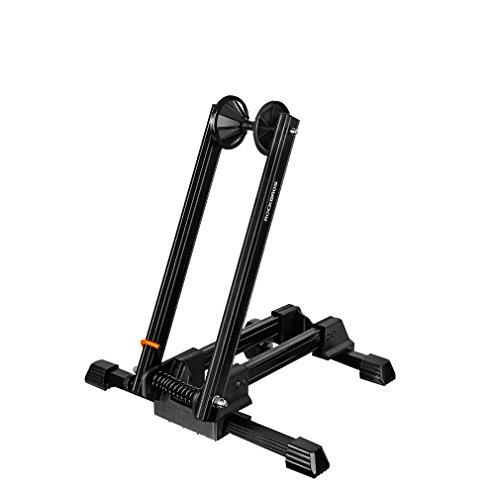 ROCKBROS Fahrrad Ständer Hinterradständer Ausstellungsständer Fahrradhalter Faltbar aus Aluminium (Schwarz (Lack spritzt))