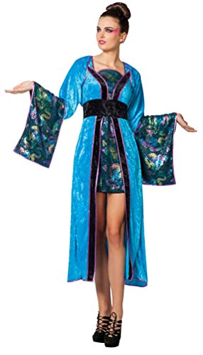 Kostüm Japanerin Geisha türkis Karneval Chinesin Asien Damenkostüm Größe ()