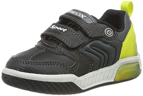 Geox J Inek Boy D, Zapatillas para Niños, Negro Black/Lime C0802, 27 EU