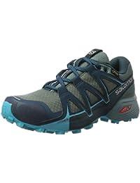 Salomon Femme Speedcross Vario 2 GTX Chaussures de Course à Pied et Trail Running, Synthétique/Textile, Bleu, Pointure